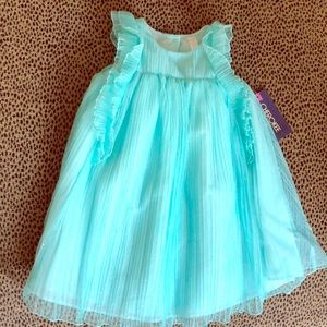 Girl's aqua silver glitter dress NEW WITH TAG